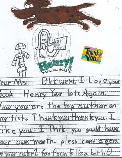 Comments cards from kids about bks-6