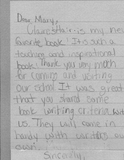Comments cards from kids about bks-8